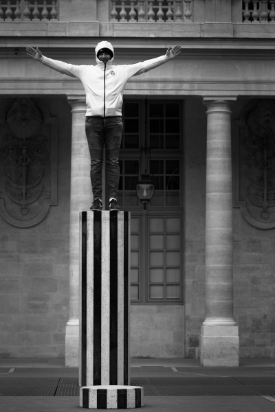 Paris 2017 - Palais royal - colonne Buren - Noir&blanc
